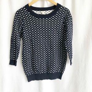 J.Crew factory 3/4 sleeve print sweater